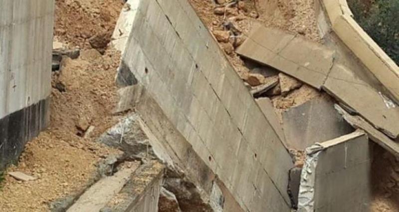 اصابات بإنهيار جدار بالقرب من مركز امن الحسين