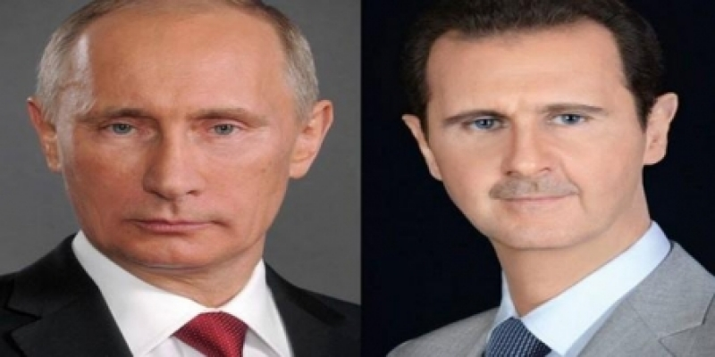 الأسد يؤكد لبوتين استعداد دمشق تطبيق اتفاق وقف النار