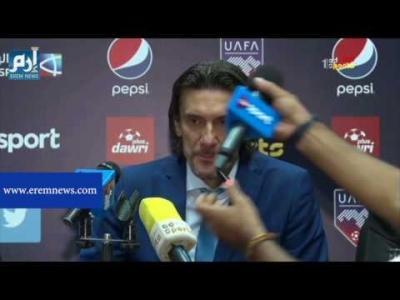صحفي مصري ينزع مايك التلفزيون الأردني خلال المؤتمر الصحفي