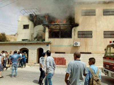نشوب حريق داخل منزل بمنطقة ياجوز في عمان