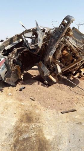 بالصور .. اصابات في حادث سير على طريق الازرق