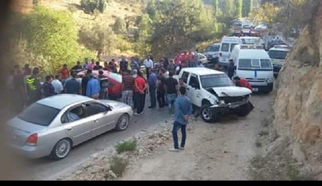 الكرك.. وفاة أربعة أشخاص وإصابة شخص اثر حادث تصادم