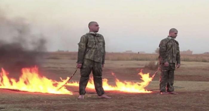الجيش التركي يعترف بصحة فيديو حرق جنوده وهم أحياء على يد داعش