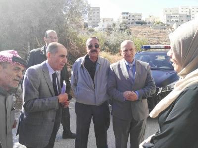 وزير الداخلية يوعز بإزالة المنازل المتصدعة في الكرك وتعويض مالكيها