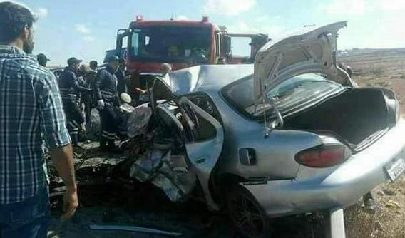 وفاتان و7 إصابات بحادث تصادم مروع في الأغوار الجنوبية