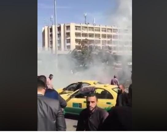 إخماد حريق مركبة بالقرب من دوار الداخلية