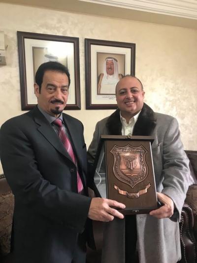 بحث تعزيز سبل التعاون المشترك بين جامعة عمان الاهلية والسفارة الكويتية