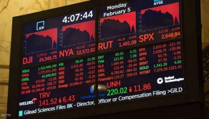 موجة هبوط حادة تضرب البورصات العالمية