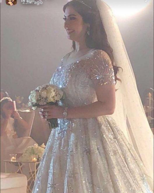 بالفيديو والصور :كم كلّفت إطلالة رؤى الصبان ليلة زفافها؟