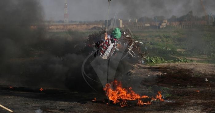 إصابة عشرات المواطنين في مواجهات مع الاحتلال