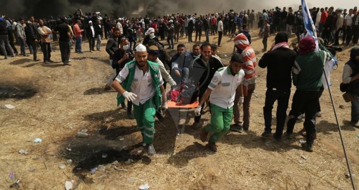 528 إصابة بينهم مسعفين وصحفيين في جمعة