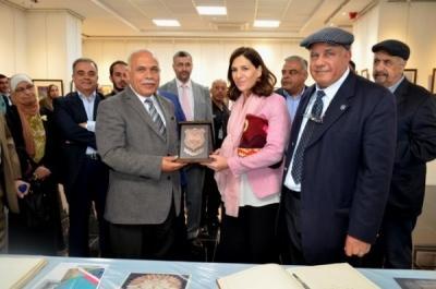 الأميرة رجوة بنت علي تفتتح معرض التصميم الجرافيكي السابع في جامعة عمان الأهلية