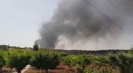 أعمدة دخان تتصاعد قرب منتزه غمدان جنوب عمان