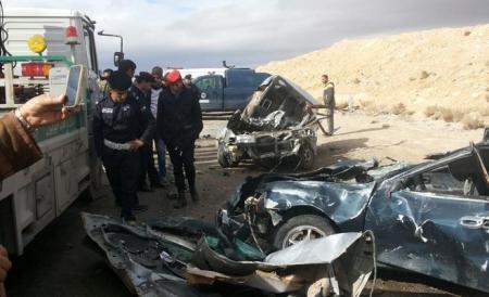 وفاة شخص وإصابة اثنين آخرين اثر حادث تصادم في الكرك