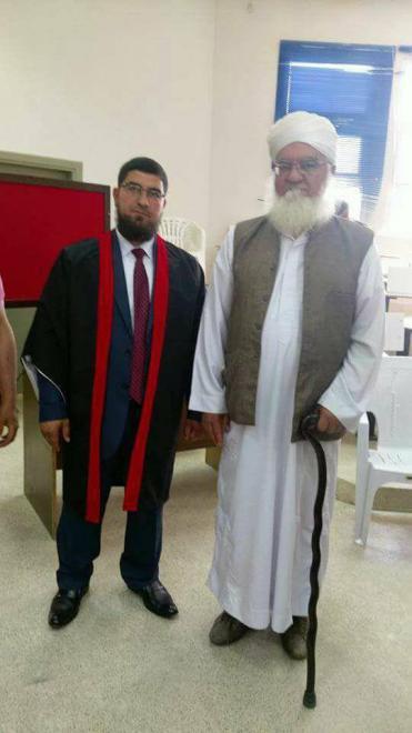 رأفت السوادحه المعايطة ( ابو ظافر ) يهنئه ابن العم الدكتور مصعب