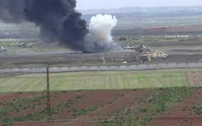 خسائر ايرانية ضخمة في تفجيرات مطار حماة