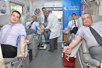 بنك الإسكان يواصل تعاونه مع بنك الدم بحملات جديدة