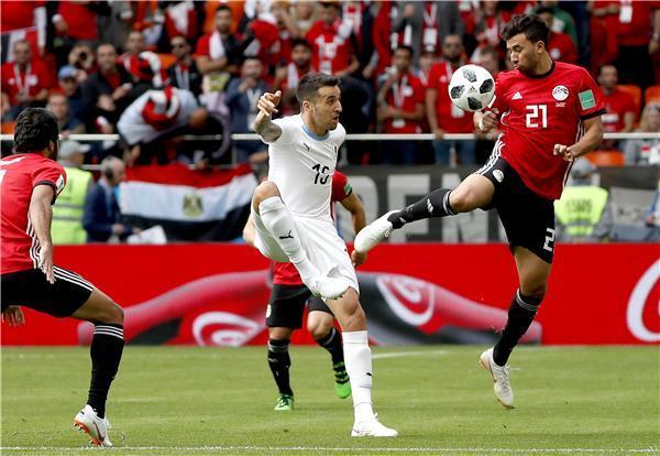 مصر دون صلاح تسقط أمام الاوروغواي في الوقت القاتل