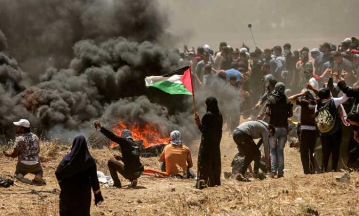 الجمعة الـ10 لمسيرة العودة توحِّد غزة وحيفا