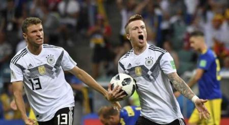 ألمانيا تقتل السويد وتحيي أمالها للتأهل إلى دور 16 في كأس العالم