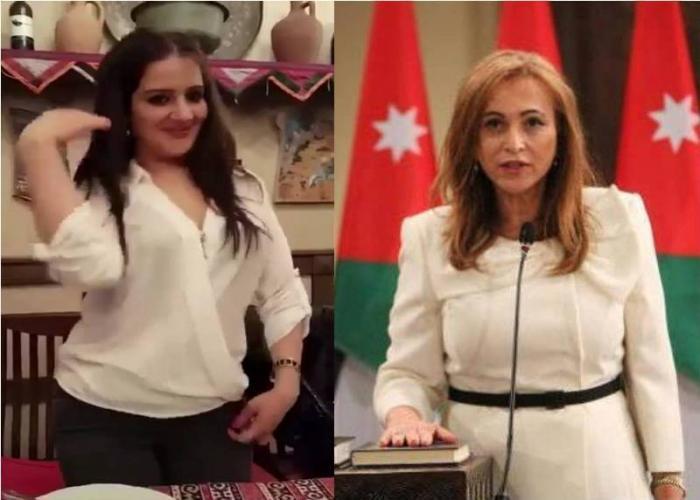 حقيقة فيديو وزيرة الثقافة النسور (صورة وفيديو)