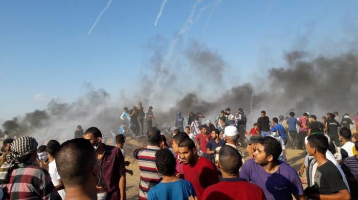 استشهاد طفل فلسطيني بمسيرة العودة في يومها الــ100