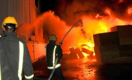 حريق بمقر البريد الأردني بمنطقة المقابلين في العاصمة عمان