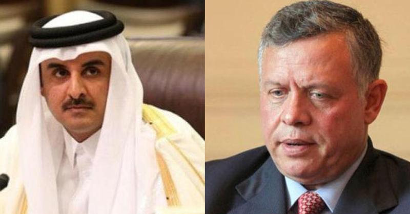 تميم  لـ الملك: قطر تؤيد أي إجراءات تتخذها الأردن لحماية أمنها واستقرارها