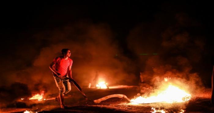 وحدة الإرباك الليلي تهدد مستوطني غلاف غزة و تطالبهم بإخلاء منازلهم
