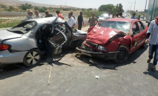 10 اصابات بحادثي سير في اربد وعمان