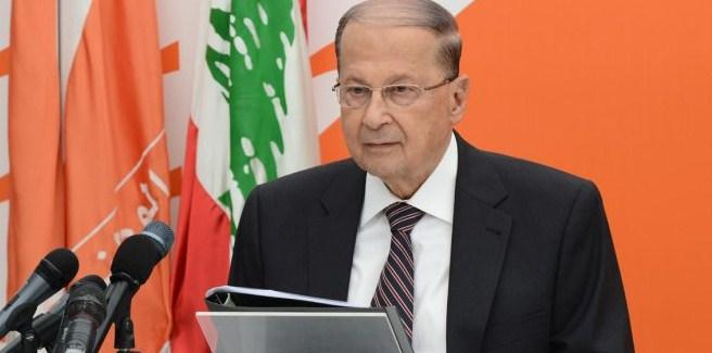 الرئيس اللبناني يشيد بقرار الاردن وسوريا