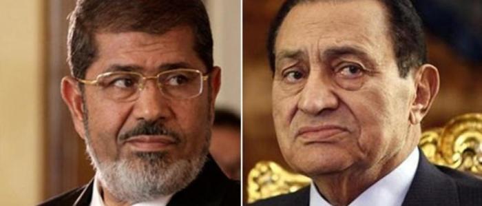 مبارك ومرسي وجهاً لوجه في المحكمة