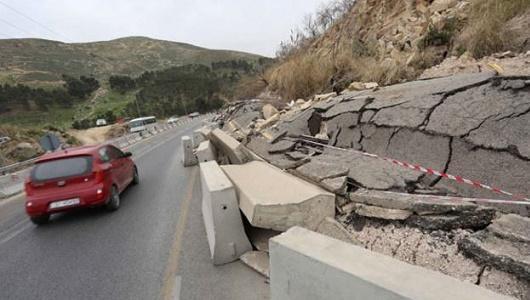 المحاسبة يحمل وزارة الأشغال مسؤولية انزلاقات طريق عمان/ اربد