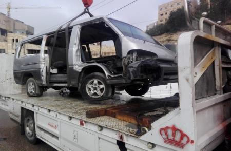 اصابة 7 اشخاص بحادث تصادم في كفرنجة
