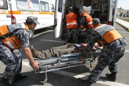 إصابة أربعة أشخاص اثر حادث سير (تصادم) بالزرقاء