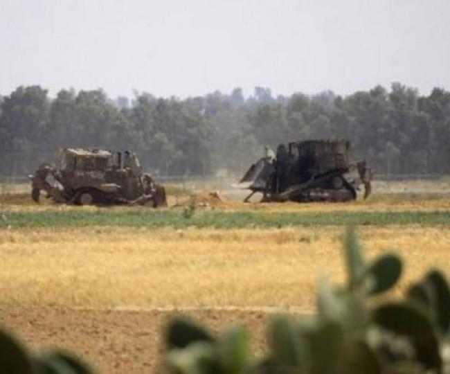 توغل محدود لجرافات الاحتلال شرق مدينة غزة