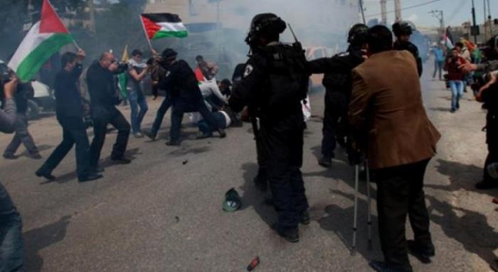 إصابة 3 مواطنين خلال قمع الاحتلال مسيرة بيت دجن شرق نابلس