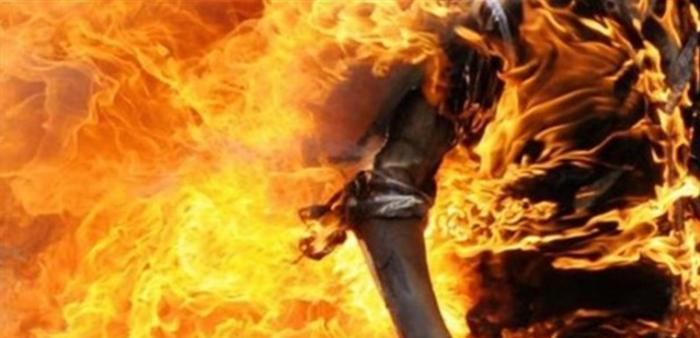 صبت البنزين على زوجها الستيني وأشعلت النار فيه!