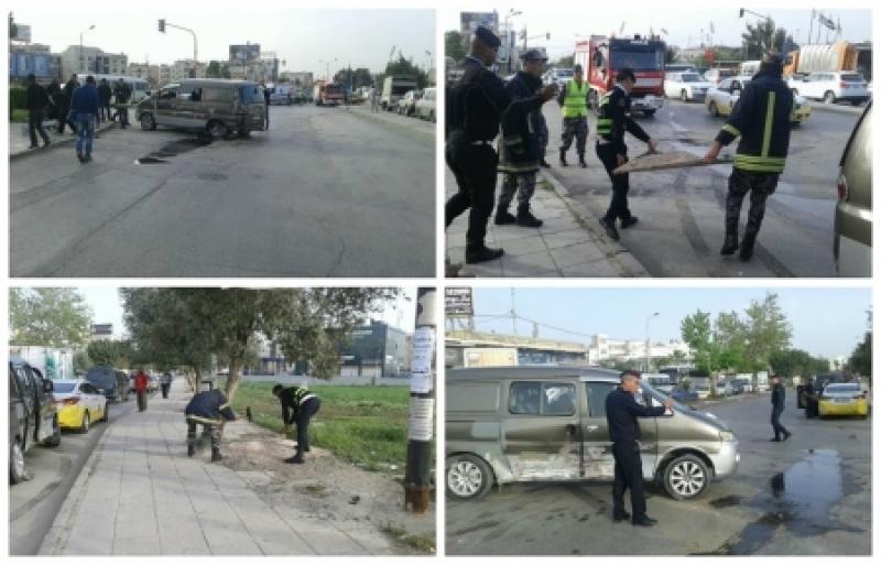 (6) اصابات بحادثي تصادم في عمان و اربد