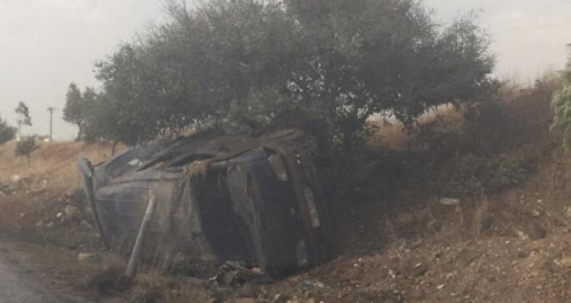 20 اصابة في تدهور حافلة على طريق النعيمة – اربد