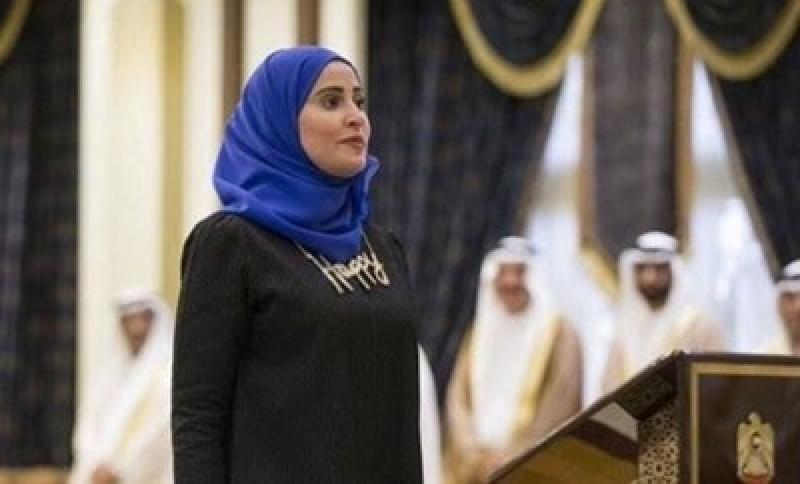 بالصور.. ماذا ارتدت وزيرة السعادة خلال أدائها اليمين؟