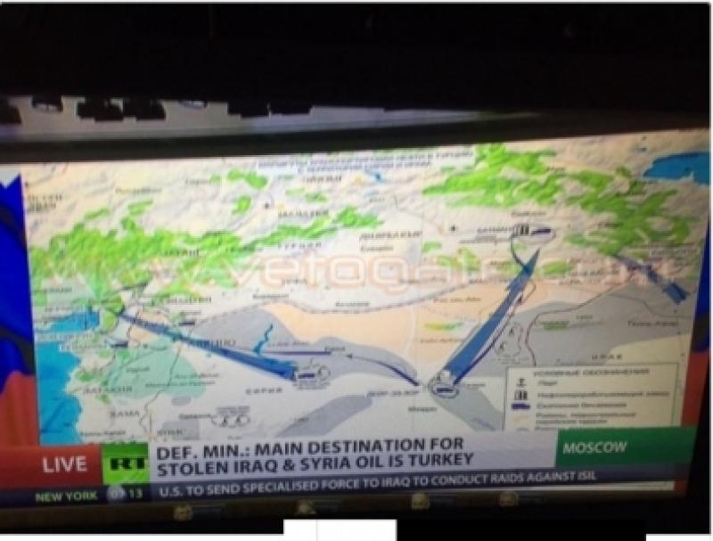 بالصور.. «الدفاع الروسية» تنشر لقطات تهريب نفط «داعش» لتركيا