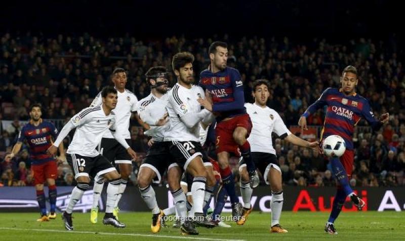 برشلونة يدك شباك فالنسيا بسباعية ويحسم أمور كأس الملك
