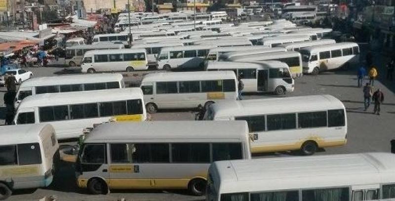 سائقو الحافلات فى الزرقاء ينتفضون بسبب قرشين