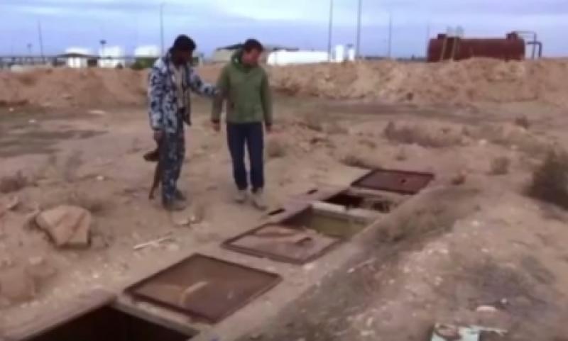"""فيديو يعرض لأوّل مرّة ..سجن """"داعشيّ"""" مخصص للنساء تحت الأرض"""