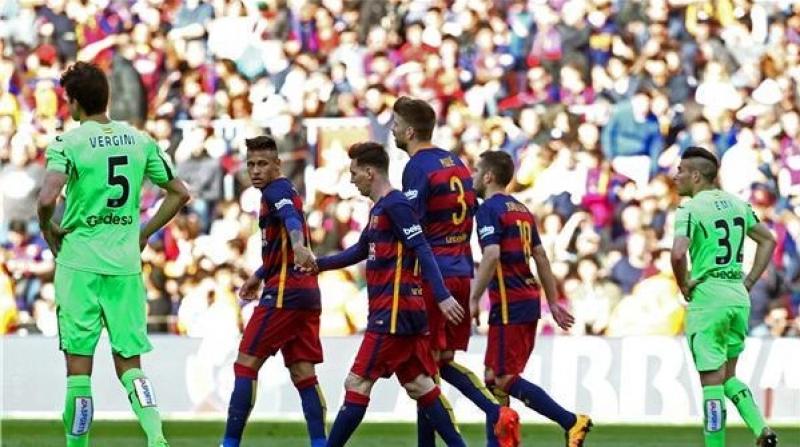 برشلونة يفترس خيتافي ويسير بثبات نحو الاحتفاظ باللقب