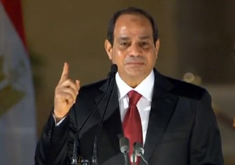 السيسي : إن المصريين بإمكانهم الشرب من مياه الصرف الصحي !